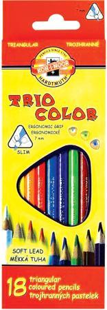 Набор карандашей Koh-i-Noor Triocolor 18 шт 175 мм набор угольных карандашей koh i noor gioconda 3 шт