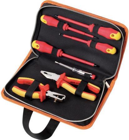 цены Набор инструментов КРАТОН DE-03/07 для электромонажных работ 7 предметов