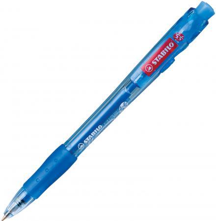 цена на Ручка шариковая автоматическая Stabilo Marathon синий 0.38 мм