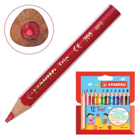 Набор цветных карандашей Stabilo Trio 205/12 12 шт утолщенные 181104