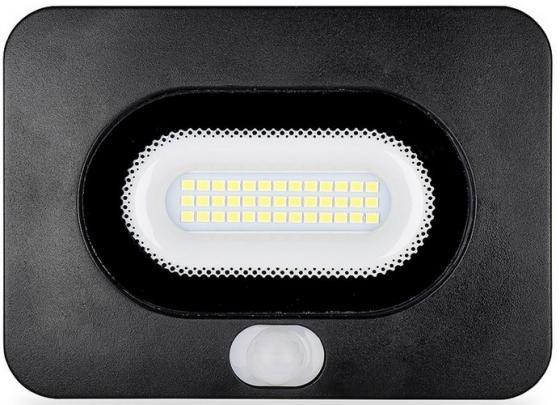 цена на Светодиодный прожектор WOLTA LFL-20/05s с датчиком движения 5500K, 20 W SMD, IP 65,цвет чёрный, сл