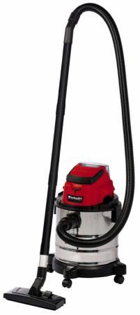 Aккумуляторный пылесос Einhell PXC TC-VC 18/20 Li S-Solo (2347130) сбор жидкостей сухая влажная уборка серебристый красный
