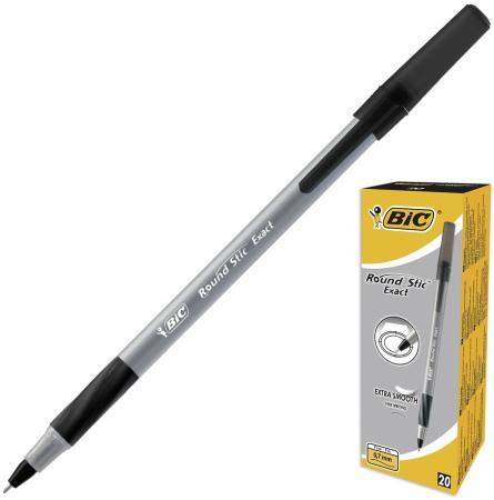 Ручка шариковая BIC Round Stic Exact черный 0.3 мм bic ручка шариковая atlantis exact синяя