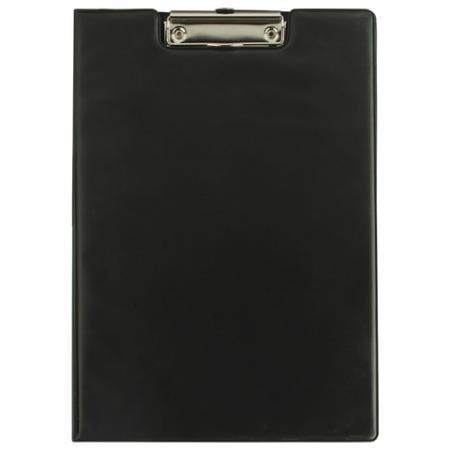 цены Папка-планшет BRAUBERG, с верхним прижимом и крышкой, А4, картон/ПВХ, Россия, черная, двойной срок службы, 221488