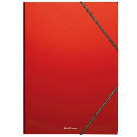"Папка на резинках ERICH KRAUSE ""Classic"", А4, до 300 листов, 400 мкм, красная, 43095 erich krause папка на резинках arlecchino формат a5"