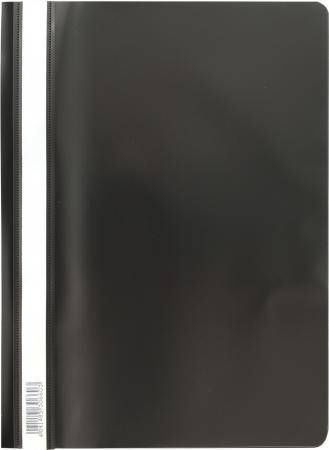 """цена на Скоросшиватель пластиковый ERICH KRAUSE """"Economy"""", А4, до 130 листов, 160 мкм, черный, 30660"""