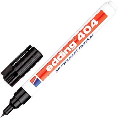 Маркер перманентный (нестираемый) EDDING 404, тонкий наконечник 0,75 мм, черный, E-404/1