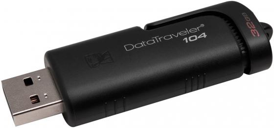 Флешка 32Gb Kingston DataTraveler 104 USB 2.0 черный DT104/32GB цена и фото