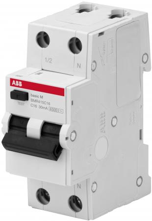 ABB 2CSR645041R1404 Выкл. авт. диф. тока, 1P+N, 40А, C, 4.5kA, 30мА, AC, BMR415C40 все цены