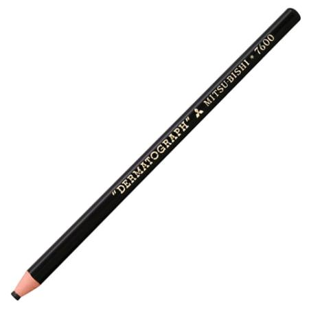 Карандаш цветной UNI Mitsubishi dermatograph 7600 BLACK 176 мм восковые 142626 japan uni mitsubishi mh 500 draw mechanical pencil2 0mm metal 1pcs