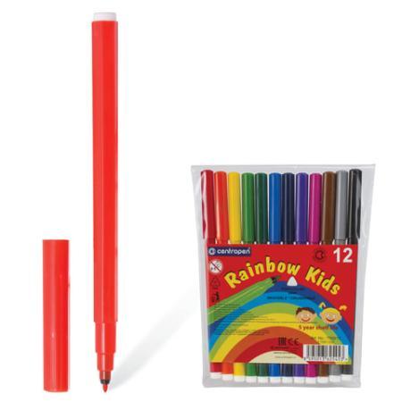 Набор фломастеров Centropen Rainbow Kids 7550/12 1 мм 12 шт 151180