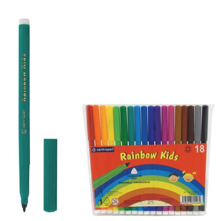 Фото - Набор фломастеров Centropen Rainbow Kids 7550/18 1 мм 18 шт 151181 centropen набор фломастеров rainbow kids 12 шт 7550 12