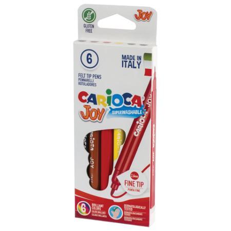 Набор фломастеров CARIOCA Joy 40613 2.6 мм 6 шт 150106 набор маркеров universal carioca stamp markers 6 шт разноцветный 42279 6 42279 6