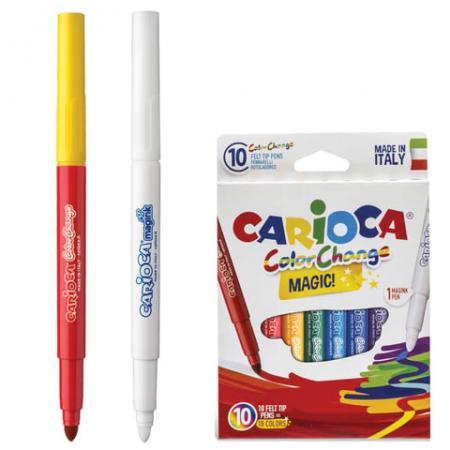 Набор фломастеров CARIOCA Color Change 42737 6 мм 10 шт 151214 набор маркеров universal carioca stamp markers 6 шт разноцветный 42279 6 42279 6