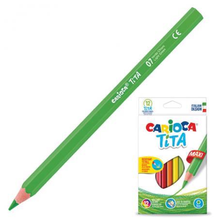 Набор цветных карандашей CARIOCA Tita Maxi 12 шт 175 мм утолщенные