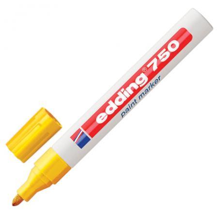 Маркер-краска лаковый Edding E-750/5 2-4 мм желтый