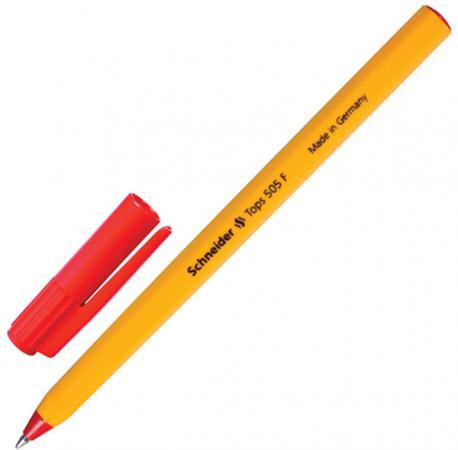 цена на Шариковая ручка шариковая SCHNEIDER Ручка шариковая Tops 505 F красный 0.4 мм