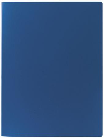 Папка на 4 кольцах STAFF, 25 мм, синяя, до 180 листов, 0,5 мм, 225724 папка файл на 4 кольцах темно синяя pvc 35 мм диаметр 20мм 08 1693 2 тс
