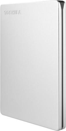 "Внешний жесткий диск 1Tb Toshiba Canvio Slim 2.5"" USB 3.0 серебро (HDTD310ES3DA) toshiba canvio connect 2 5 1tb white"