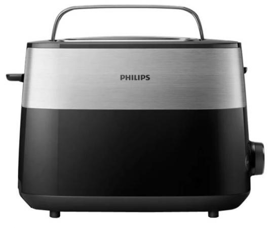 Тостер Philips HD2516 830Вт черный/стальной