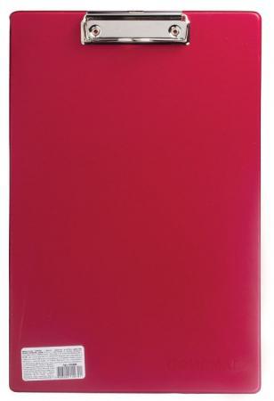 Доска-планшет ОФИСМАГ с верхним прижимом, А4, 23х35 см, картон/ПВХ, Россия, бордовая, 225988 планшет а4 формулы лам картон