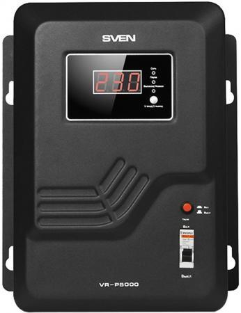 Stabilizer SVEN VR-P 5000, Relay, 5000VA, 3300W, 140-275v, output terminals, black, 350 ? 285 ? 160mm, 9.51kg. dvp32es00r2 delta plc 100 240vac 16di 16do relay output new