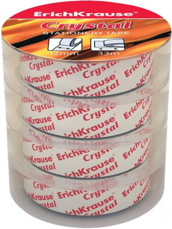 купить Клейкая лента Erich Krause Crystal 19435 12мм x 33 м комплект 4 шт. недорого