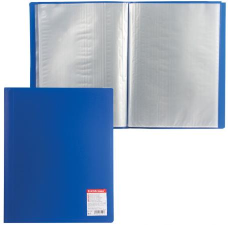 Папка 40 вкладышей ERICH KRAUSE Standard, А4, вертикальная, синяя, 0,6 мм, 3143 erich krause erich krause альбом для рисования а4 40л морская прогулка клеевое скрепление