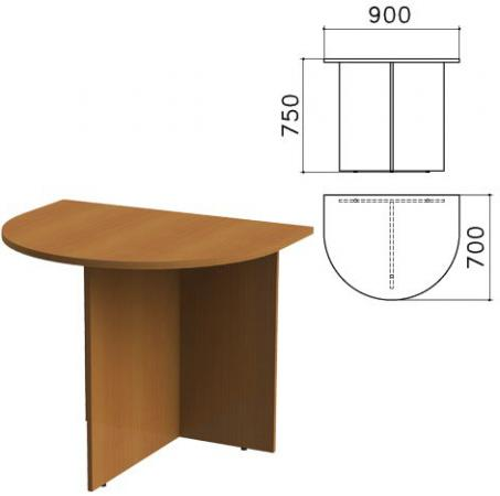 """Стол приставной к столу для переговоров (640111) """"Монолит"""", 900х700х750 мм, орех гварнери, ПМ19.3 стоимость"""