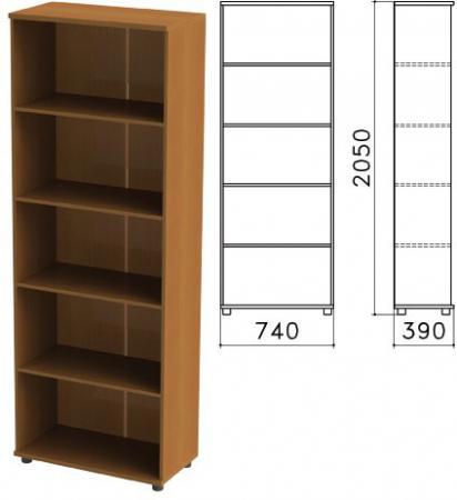 Шкаф (стеллаж) Монолит, 740х390х2050 мм, 4 полки, цвет орех гварнери, ШМ44.3