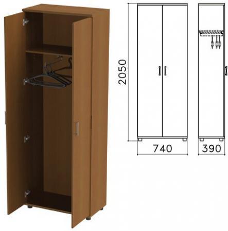 Шкаф для одежды Монолит, 740х390х2050 мм, цвет орех гварнери, ШМ49.3