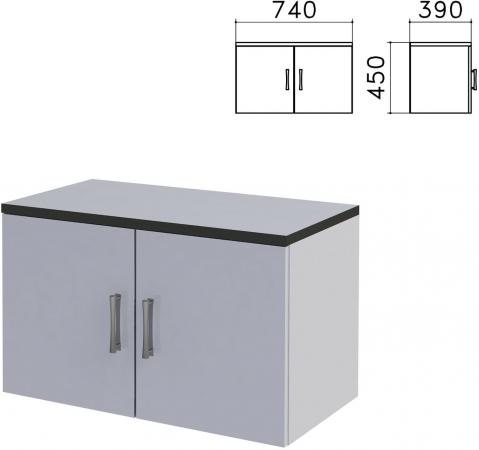 Шкаф-антресоль Монолит, 740х390х450 мм, цвет серый, АМ01.11