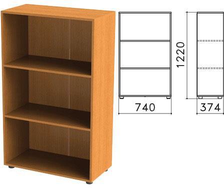Шкаф (стеллаж) Фея, 740х370х1220 мм, 2 полки, цвет орех милан, ШФ13.5 цена