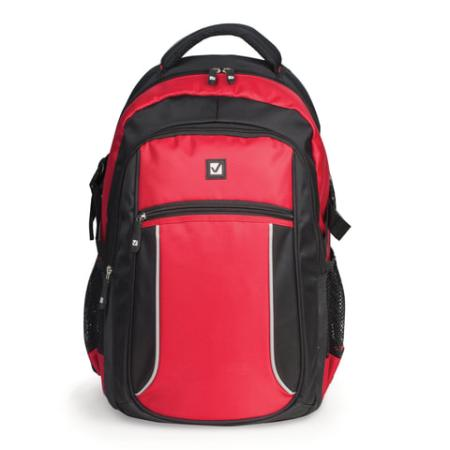 Рюкзак ручка для переноски BRAUBERG Пламя 20 л черный красный цена