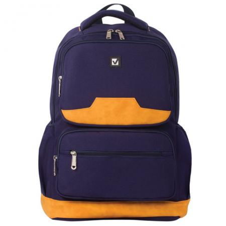 Рюкзак ручка для переноски BRAUBERG Бронкс 27 л синий рюкзак ручка для переноски brauberg рюкзак для школы и офиса mainstream 2 35 л серый синий