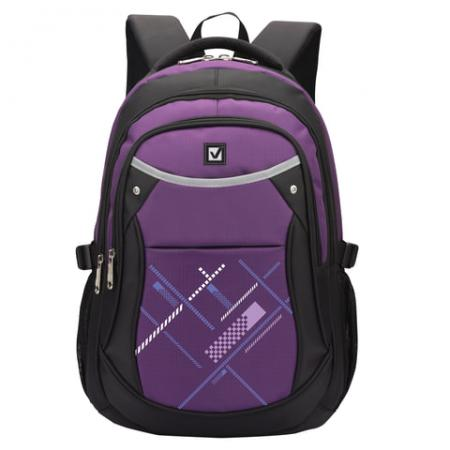 Купить Рюкзак ручка для переноски BRAUBERG Мамба 30 л фиолетовый, Рюкзаки для школьников