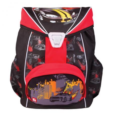Рюкзак ортопедический BRAUBERG Спорткар 20 л черный красный цена
