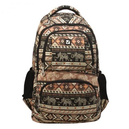 Рюкзак ручка для переноски BRAUBERG Слоны 27 л мультиколор цена и фото