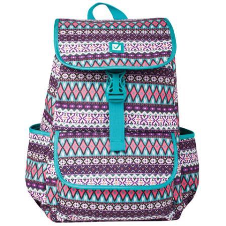 Купить Рюкзак ручка для переноски BRAUBERG Ромб 15 л бирюзовый, Рюкзаки для школьников