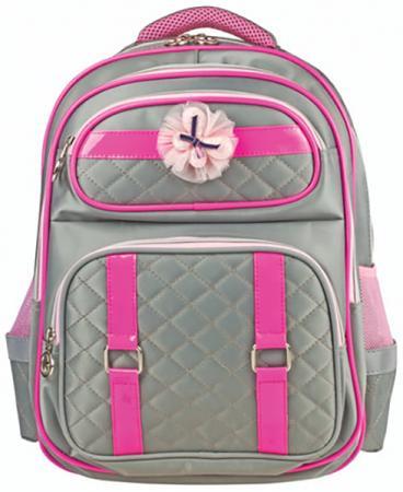 Купить Рюкзак ручка для переноски BRAUBERG Рюкзак BRAUBERG для учениц начальной школы 14 л серый, Рюкзаки и сумки