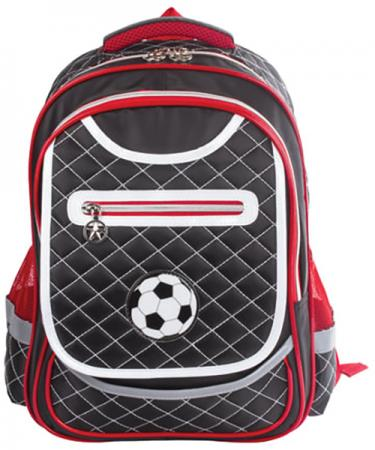 Купить Рюкзак ручка для переноски BRAUBERG Рюкзак BRAUBERG для учеников начальной школы 14 л черный красный, Рюкзаки для школьников