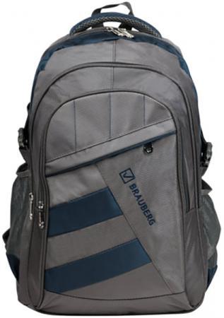Купить Рюкзак ручка для переноски BRAUBERG Рюкзак для школы и офиса MainStream 2 35 л серый синий, Рюкзаки для школьников