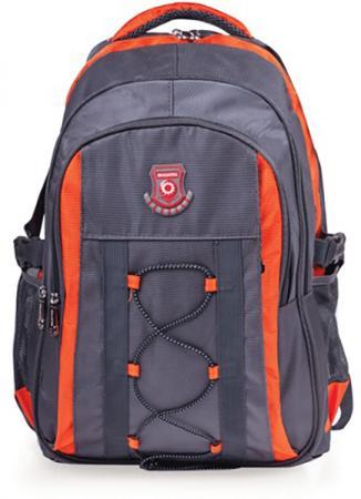 Купить Рюкзак ручка для переноски BRAUBERG Рюкзак для школы и офиса BRAUBERG SpeedWay 1 25 л серый оранжевый, Рюкзаки и сумки