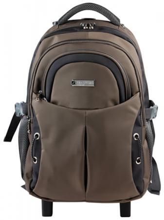 """Рюкзак ручка для переноски BRAUBERG Рюкзак для школы и офиса BRAUBERG """"Jax 1"""" 30 л черный коричневый, Рюкзаки и сумки  - купить со скидкой"""