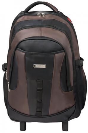 Купить Рюкзак ручка для переноски BRAUBERG Рюкзак для школы и офиса BRAUBERG Jax 2 35 л черный коричневый, Рюкзаки для школьников