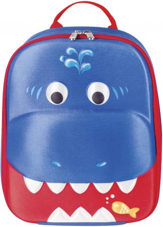 Купить Рюкзак ручка для переноски BRAUBERG Акула синий рисунок, Рюкзаки и сумки