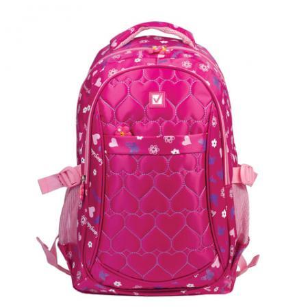 Рюкзак ручка для переноски BRAUBERG Сердечки 26 л розовый рюкзак ручка для переноски brauberg сердечки 26 л розовый