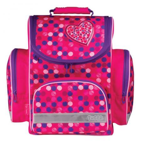 Ранец ортопедический Tiger Family ТАЙГЕР) Сердце 18 л розовый ранец ортопедический tiger family драйв 13 л синий