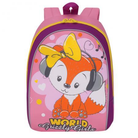 Рюкзак с усиленной спинкой GRIZZLY RS-896-2/1 12 л розовый росмэн шопкинс средний с усиленной спинкой розовый