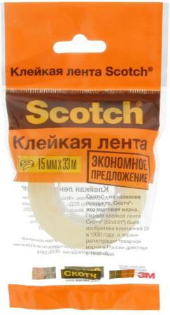 Клейкая лента 3M Scotch 500-1533 15мм x 33 м канцелярская